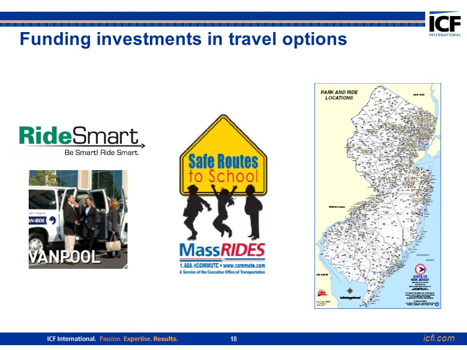 icfi.com 18 Funding investments in travel options
