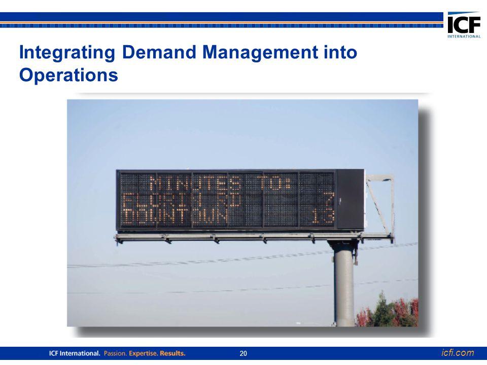 icfi.com 20 Integrating Demand Management into Operations
