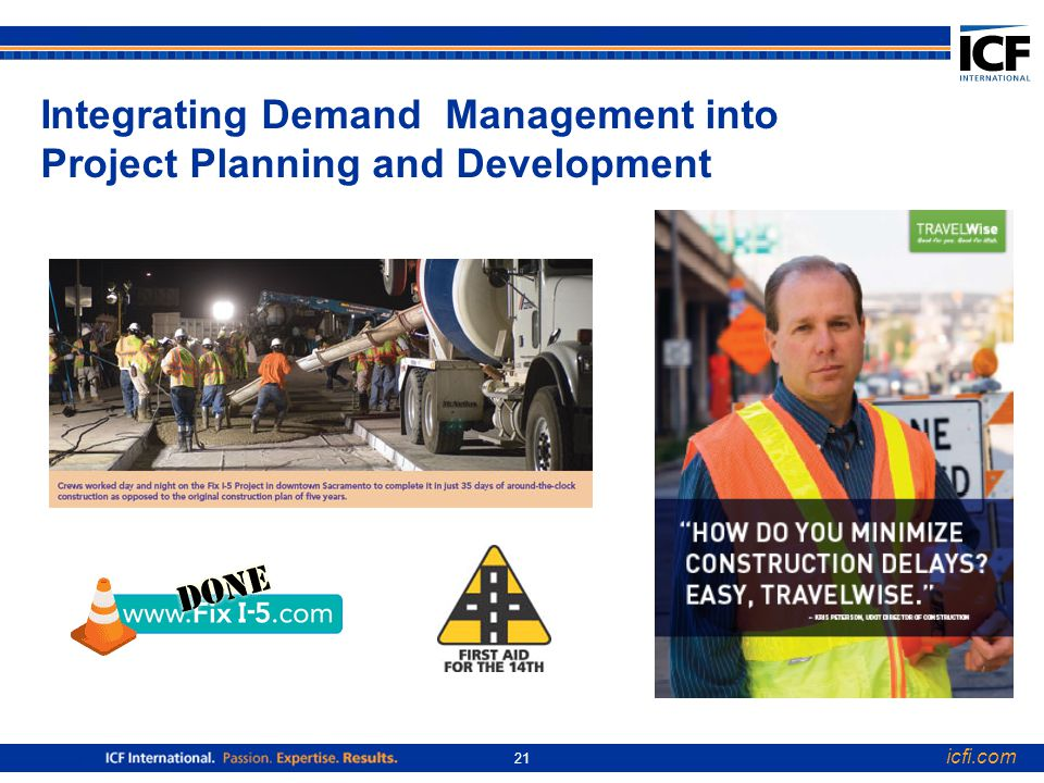 icfi.com 21 Integrating Demand Management into Project Planning and Development