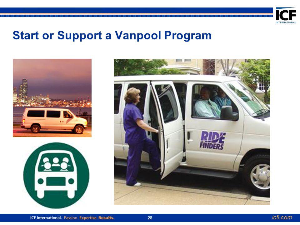 icfi.com 28 Start or Support a Vanpool Program