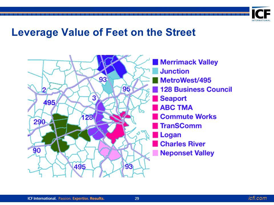 icfi.com 29 Leverage Value of Feet on the Street
