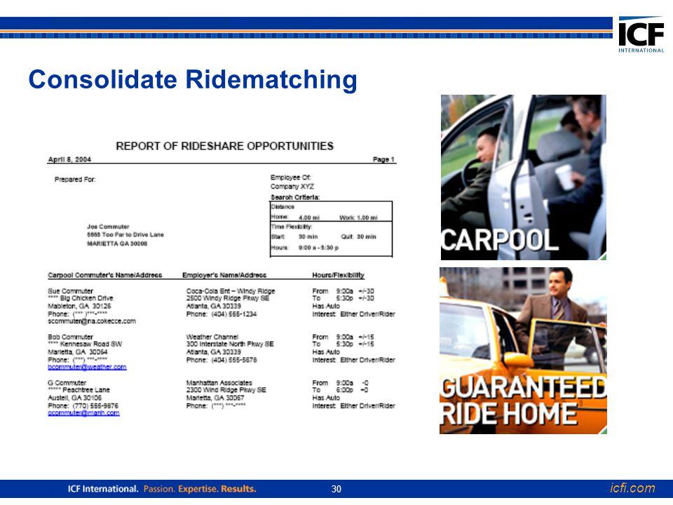 icfi.com 30 Consolidate Ridematching