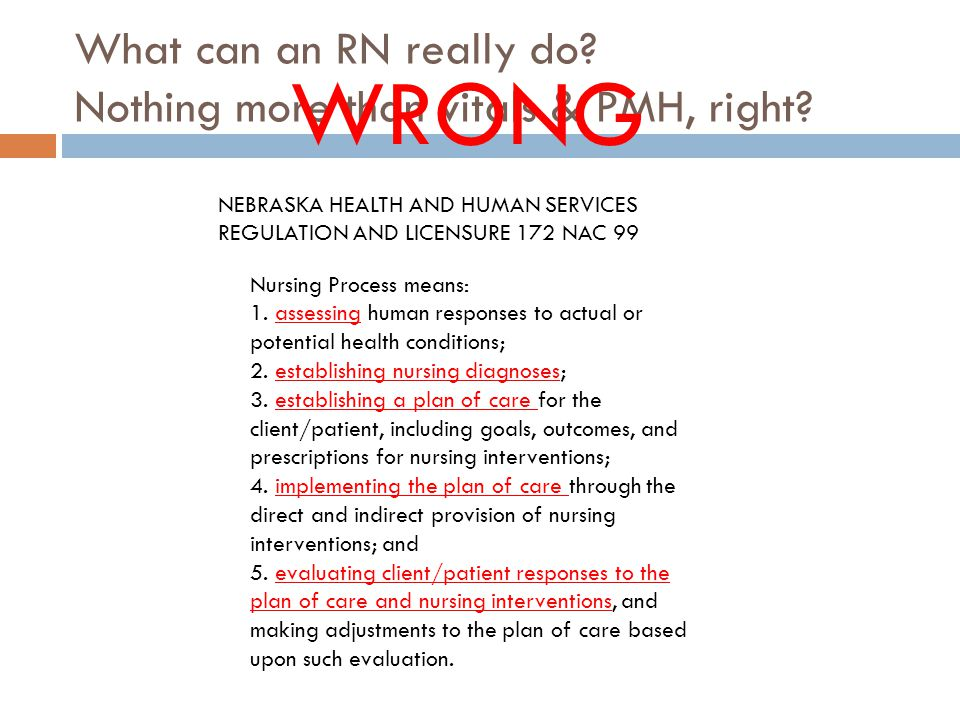 What can an RN really do. Nothing more than vitals & PMH, right.