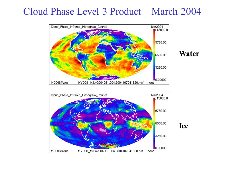 Cloud Phase Level 3 Product March 2004 Water Ice