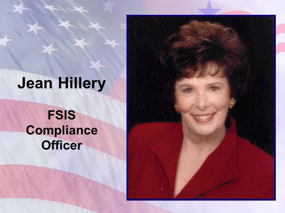 Jean Hillery FSIS Compliance Officer