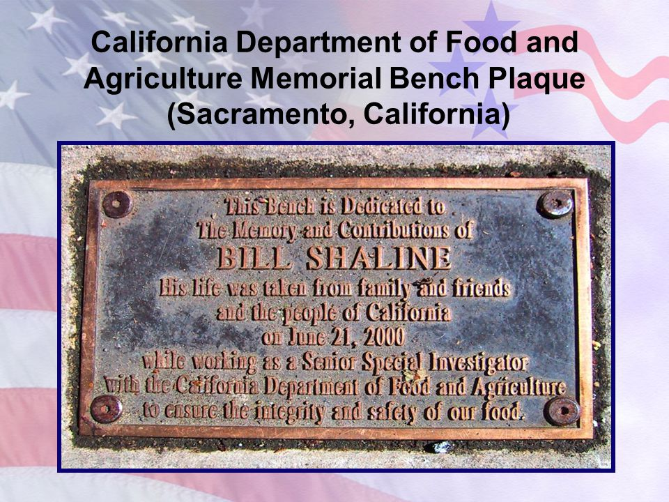 California Department of Food and Agriculture Memorial Plaque (Sacramento, California)