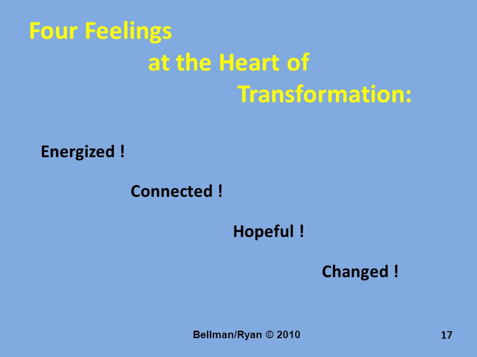 Four Feelings at the Heart of Transformation: Energized .