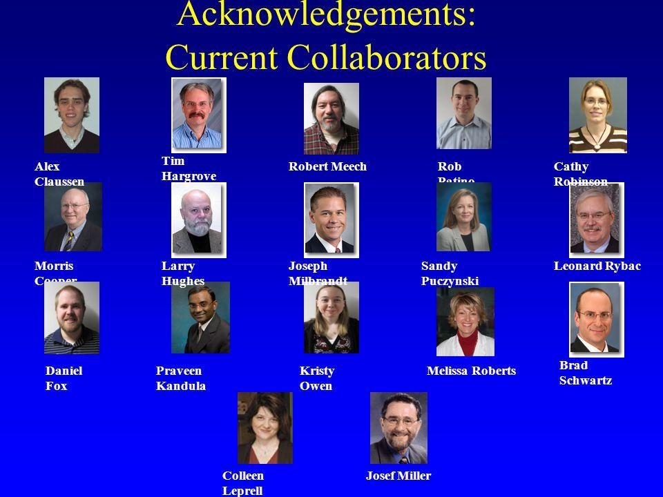 Acknowledgements: Current Collaborators Kristy Owen Rob Patino Melissa Roberts Sandy Puczynski Morris Cooper Tim Hargrove Brad Schwartz Praveen Kandul
