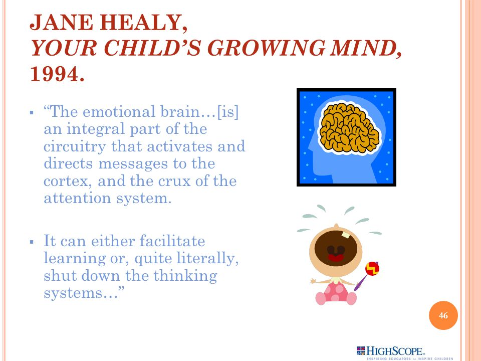 JANE HEALY, YOUR CHILD'S GROWING MIND, 1994.