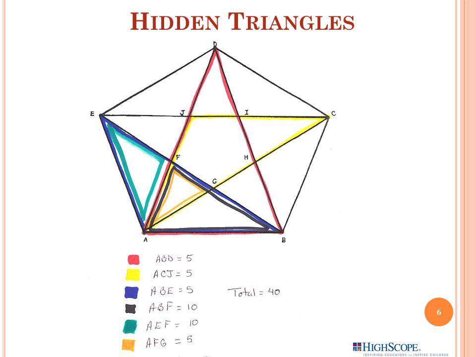 H IDDEN T RIANGLES 6