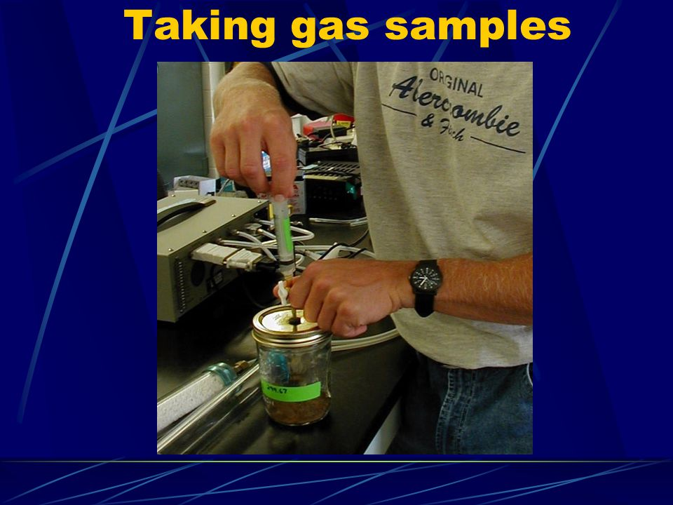 Taking gas samples