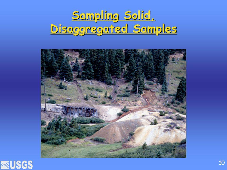 Sampling Solid, Disaggregated Samples 10