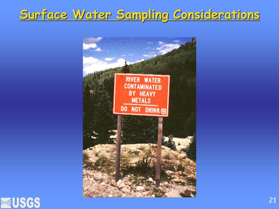 Surface Water Sampling Considerations 21
