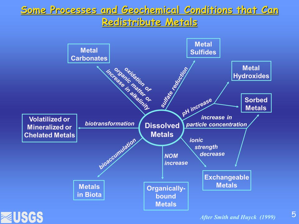 Some Processes and Geochemical Conditions that Can Redistribute Metals 5