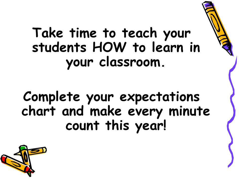 Take time to teach your students HOW to learn in your classroom.