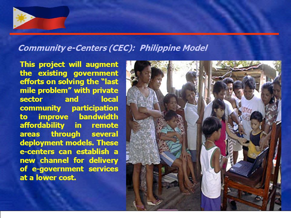 Empowerment of the Filipino Youth BRIDGEIT OR TEXT2TEACH PROGRAM, etc. A global program developed locally under the leadership of the Ayala Foundation