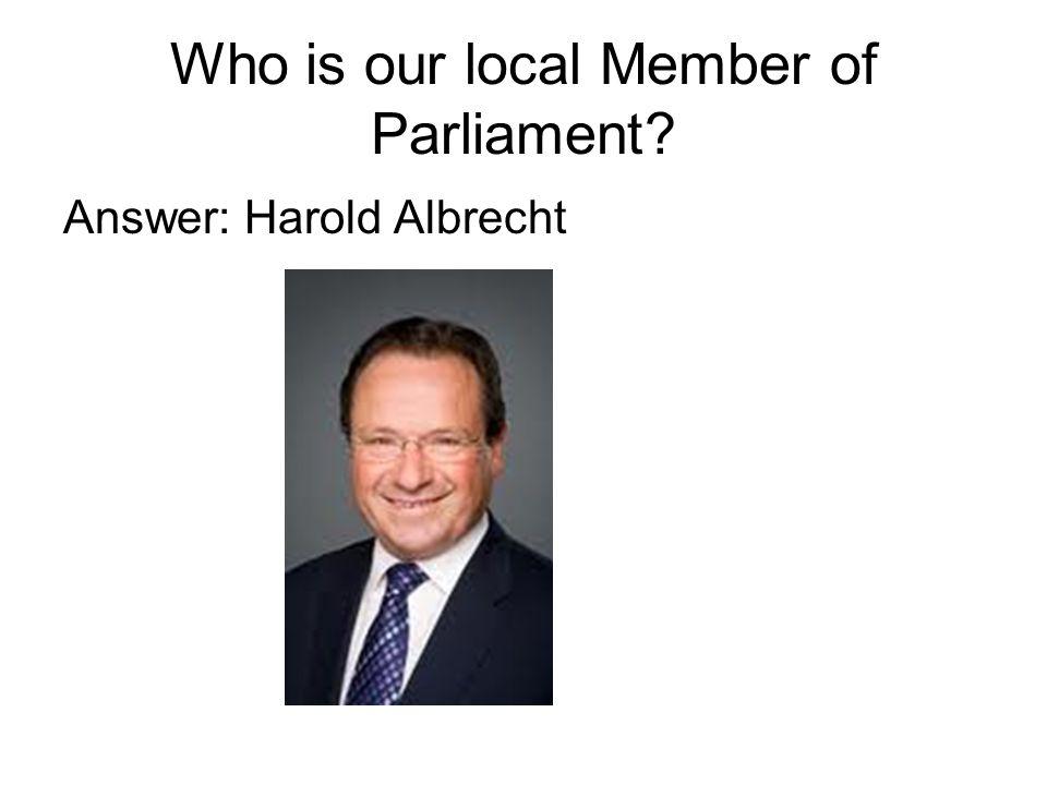Answer: Harold Albrecht