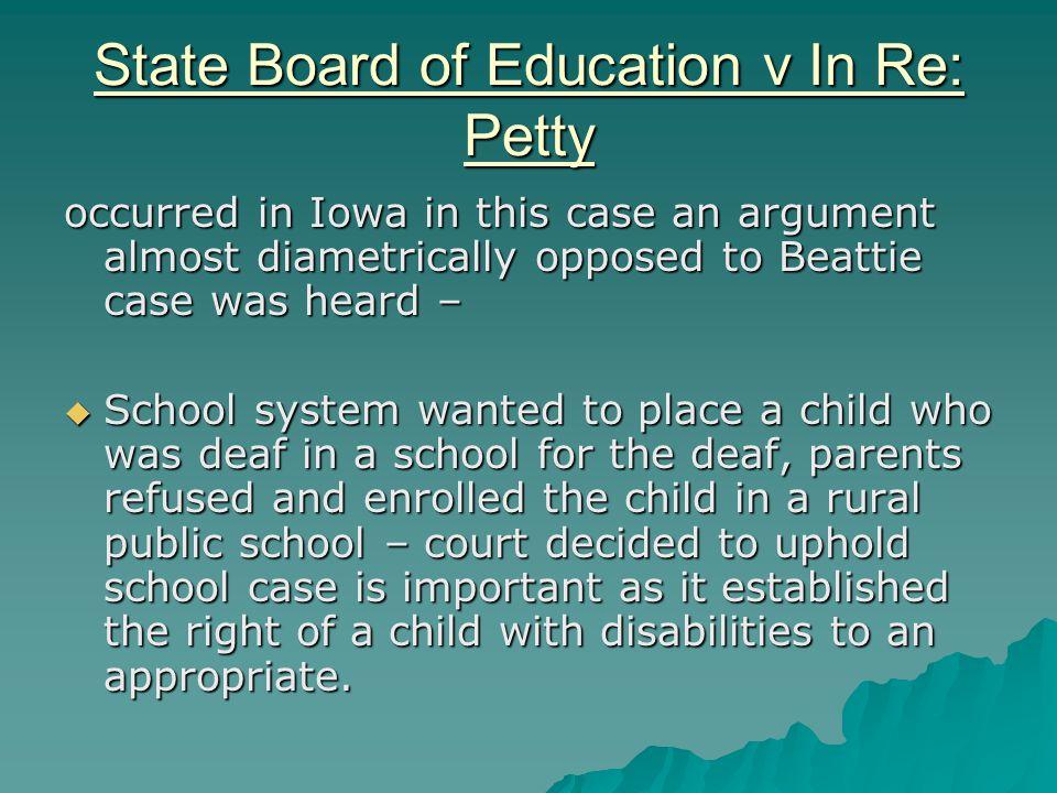 Brown v Board of Education.