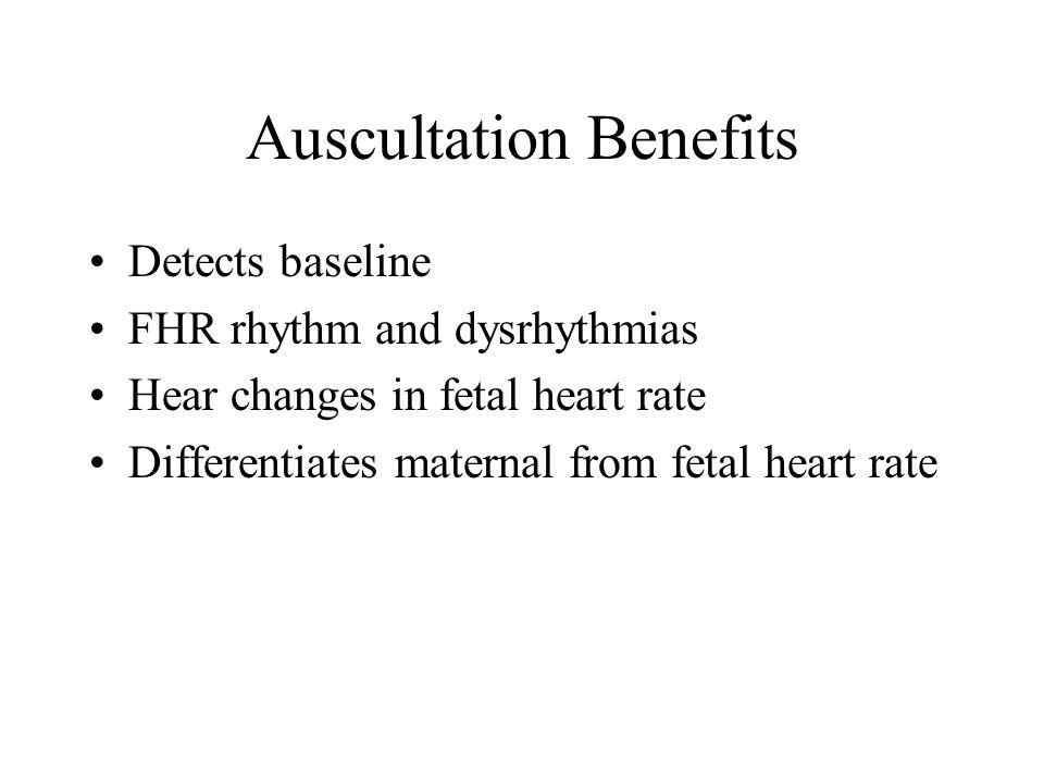 Fetal Heart Rate Monitoring Baseline Normal: 110-160 bpm Tachycardia : >160 bpm for >10 minutes Bradycardia: 10 minutes