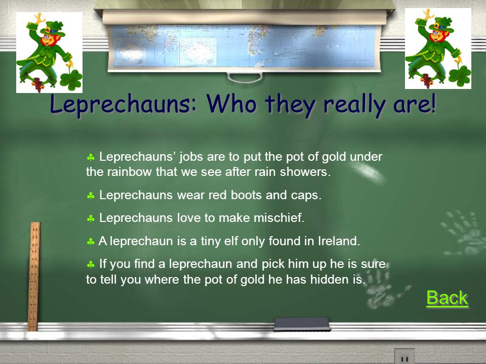 Leprechauns: Who they really are.