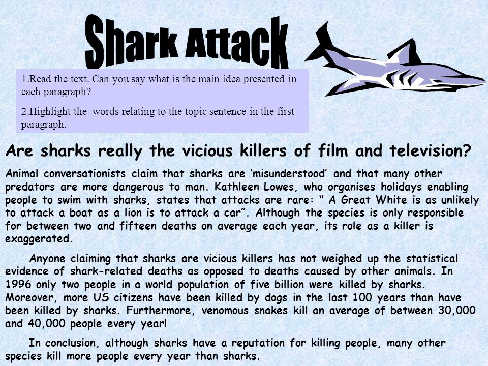 Are sharks really the vicious killers of film and television.