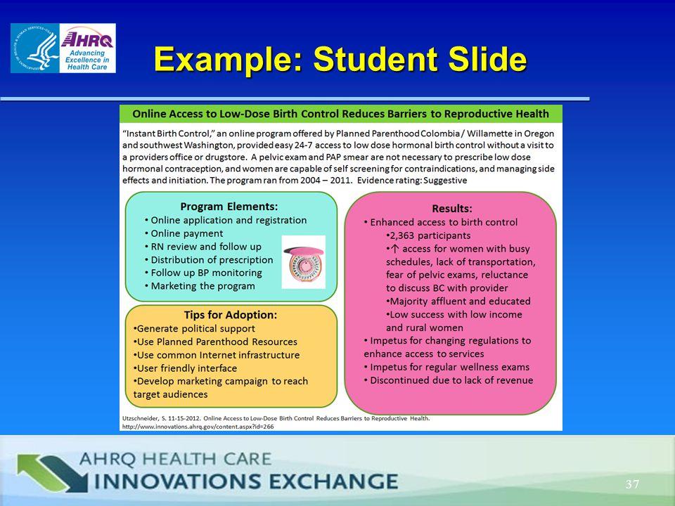 Example: Student Slide Example: Student Slide 37