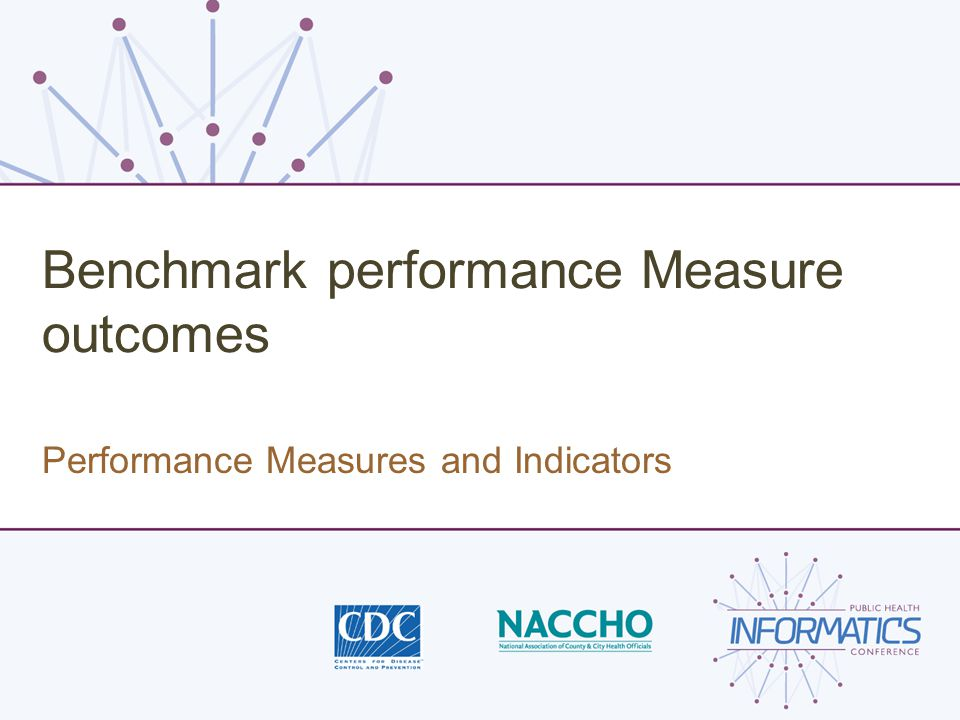 Benchmark performance Measure outcomes Performance Measures and Indicators