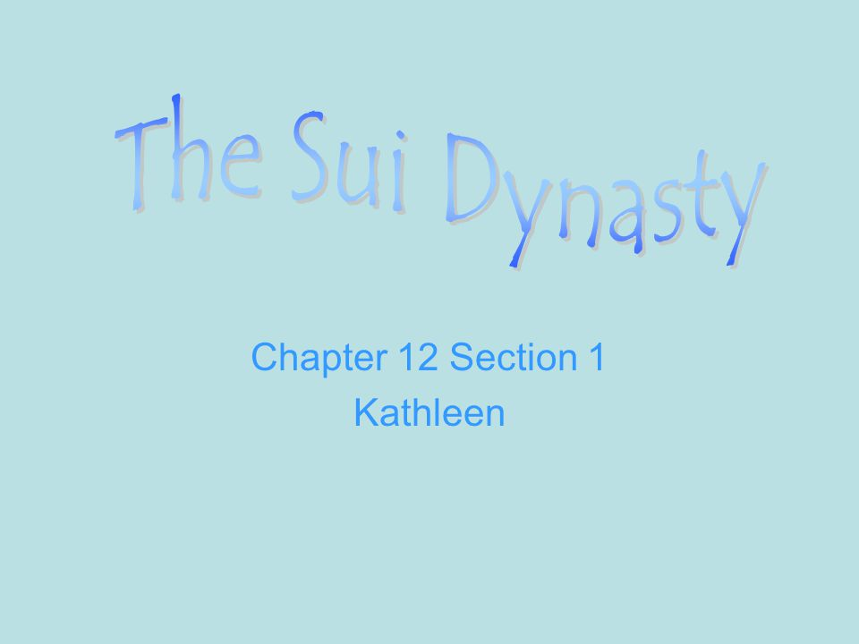 Chapter 12 Section 1 Kathleen