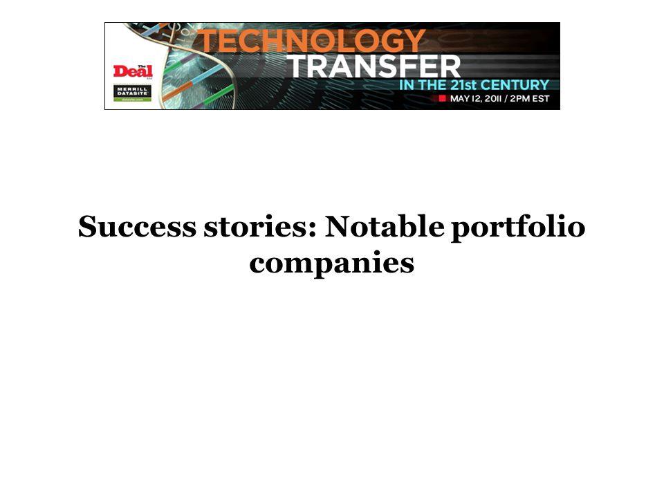 Success stories: Notable portfolio companies
