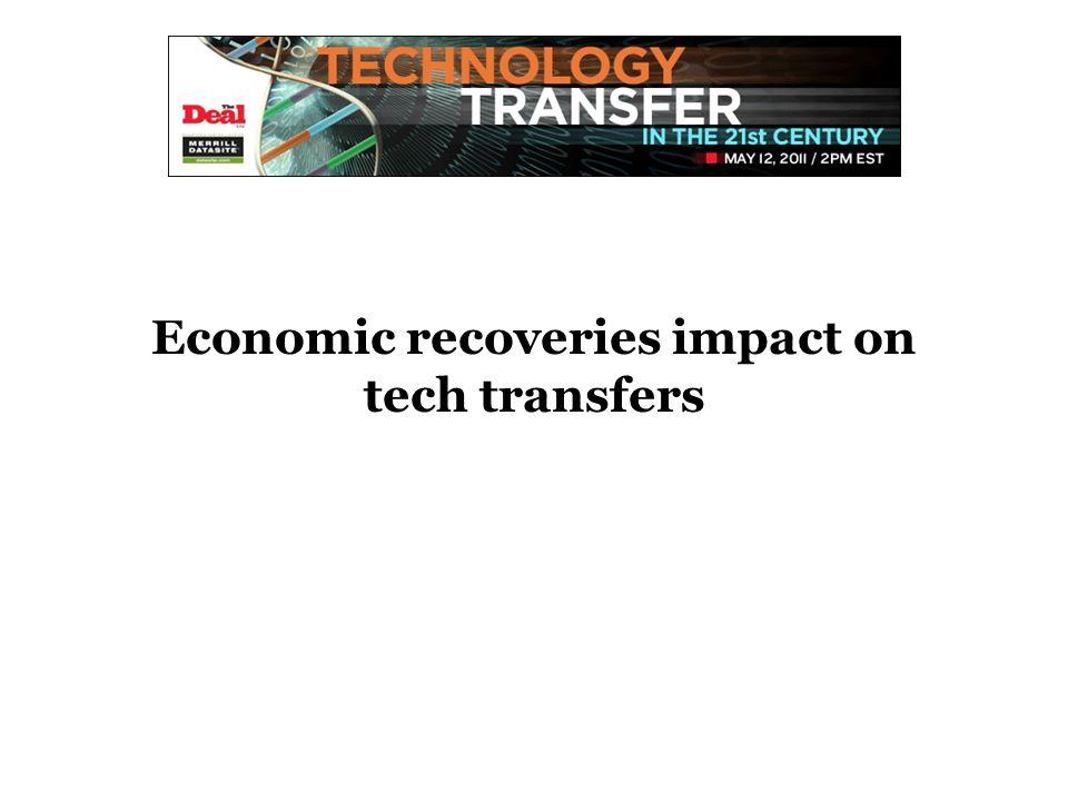 Economic recoveries impact on tech transfers