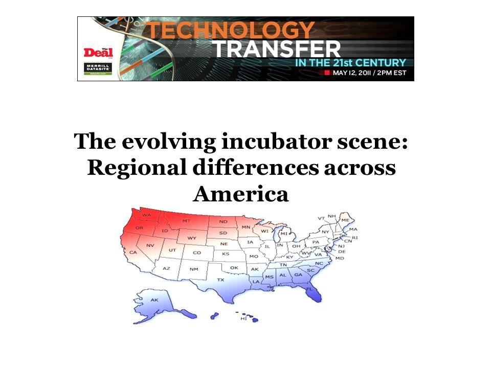 The evolving incubator scene: Regional differences across America