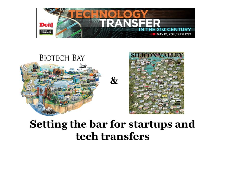 Setting the bar for startups and tech transfers &
