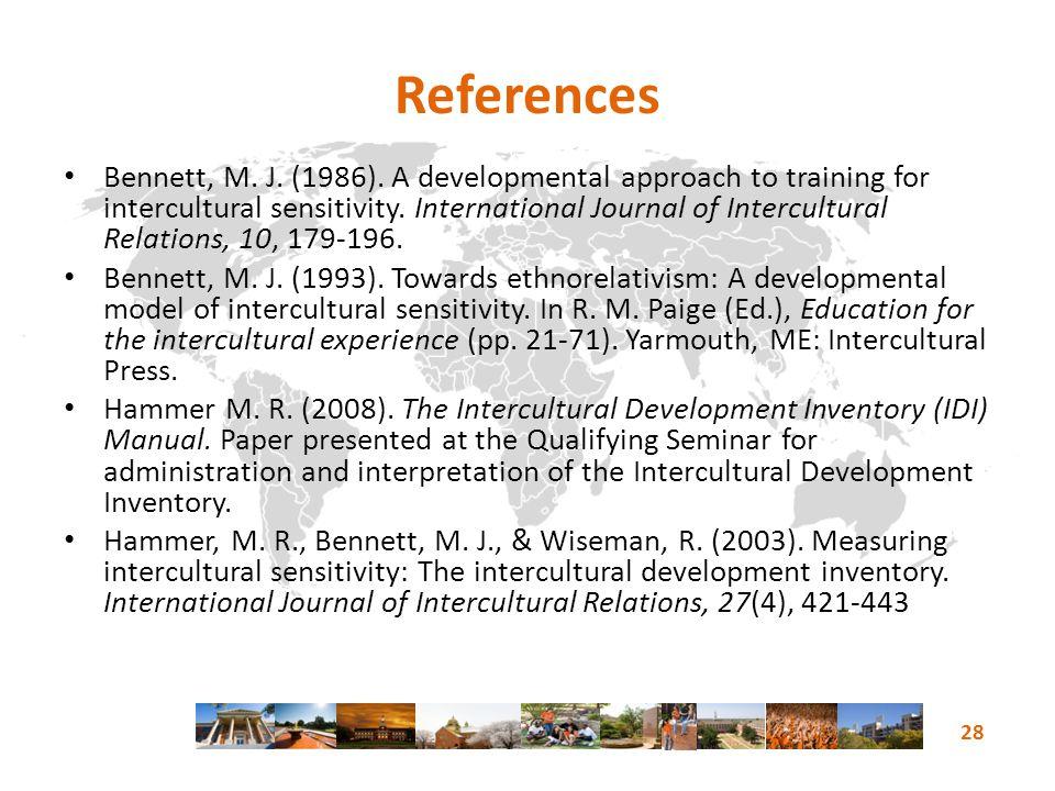 References Bennett, M. J. (1986).
