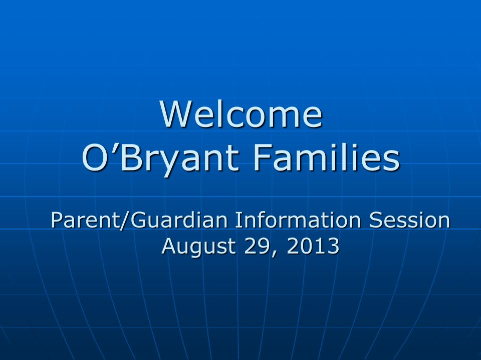 Student Safety O'Bryant has a zero tolerance policy towards fighting, harassment, and bullying.