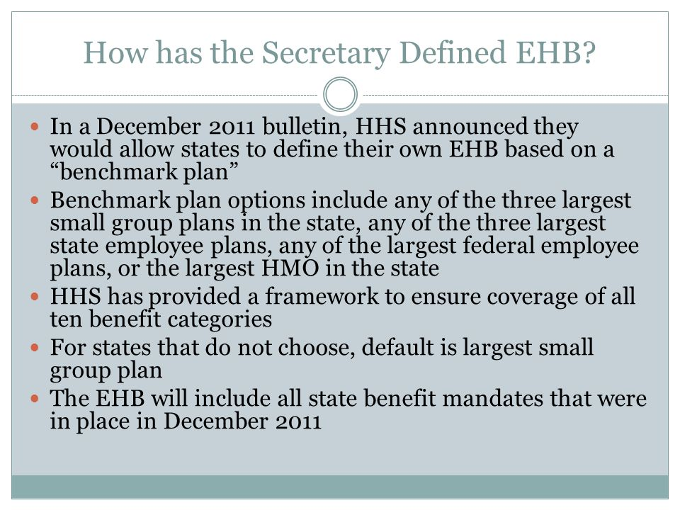 Advocacy Submitted 16 pages of comments on EHB to CMS December, 2012 and copied Governor Submitted letter to Governor and all legislators urging expansion of Medicaid January, 2013 Actively involved in Medicaid expansion advocacy with legislators, e.g., letters, phone calls, webinars, rallies