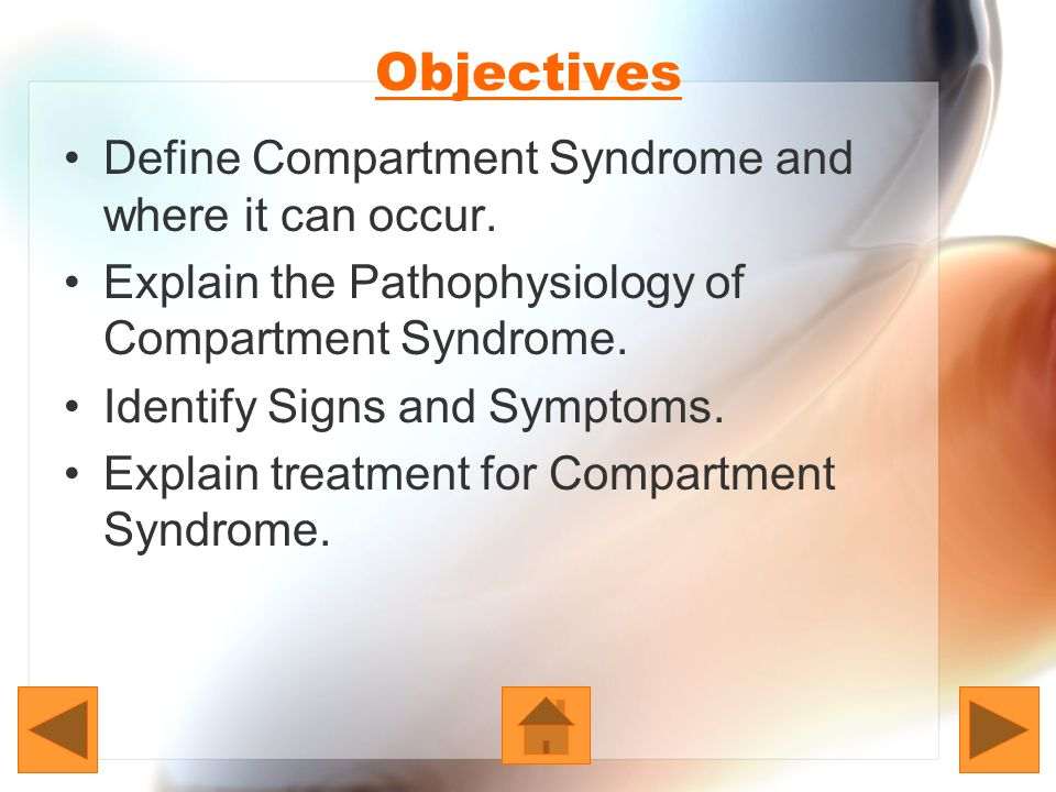 Treatment Chronic Compartment Syndrome: Avoid doing activities that cause pain and swelling.