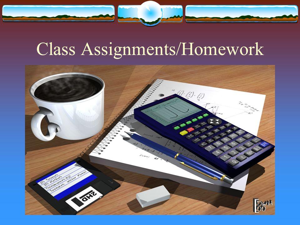 Class Assignments/Homework