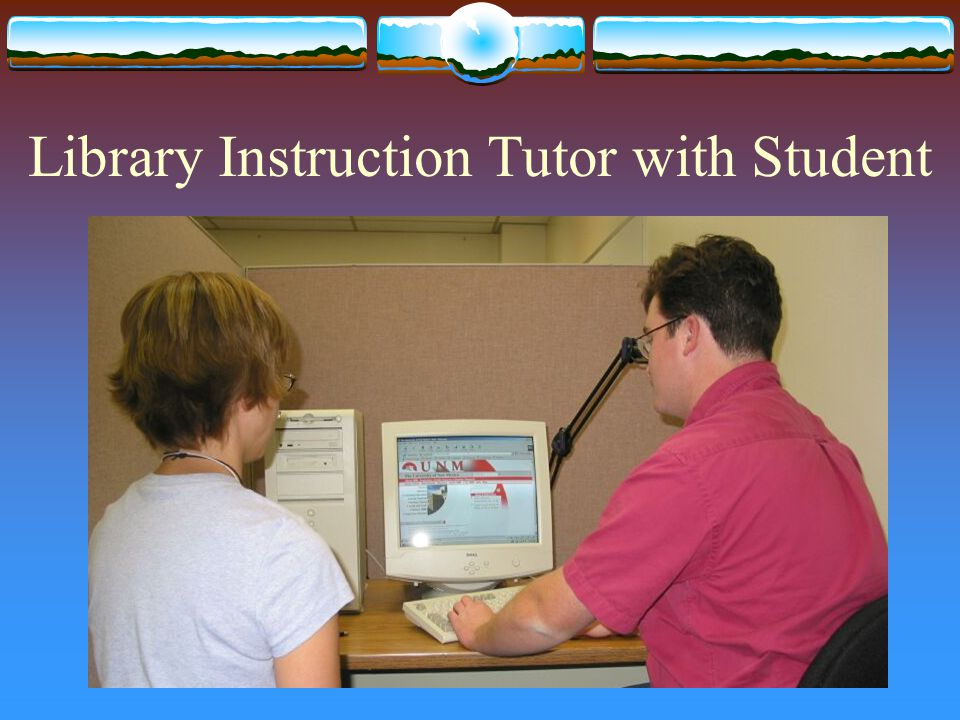Library Instruction Tutor with Student