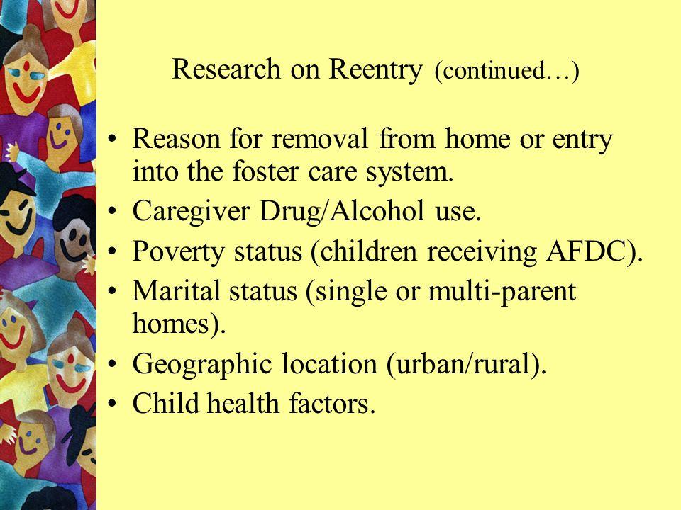 Odds of Reentry – Other Factors No Drug/Alc Serv.Drug/Alc.