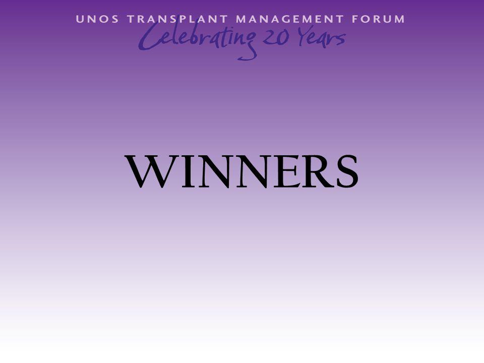 1 st Annual Deedle Heckenkemper Leader in Transplant Administration Award Edward Zavala, MBA Vanderbilt University Medical Center Nashville, TN