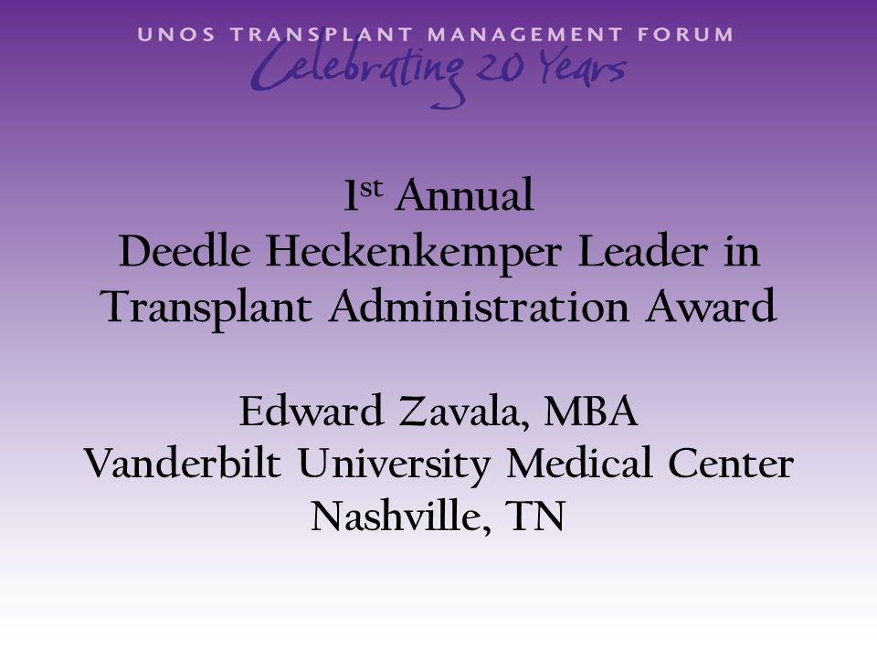 Category 4 Revenue Management/Optimizing Profitability Sponsored by Transplant Management Group, LLC