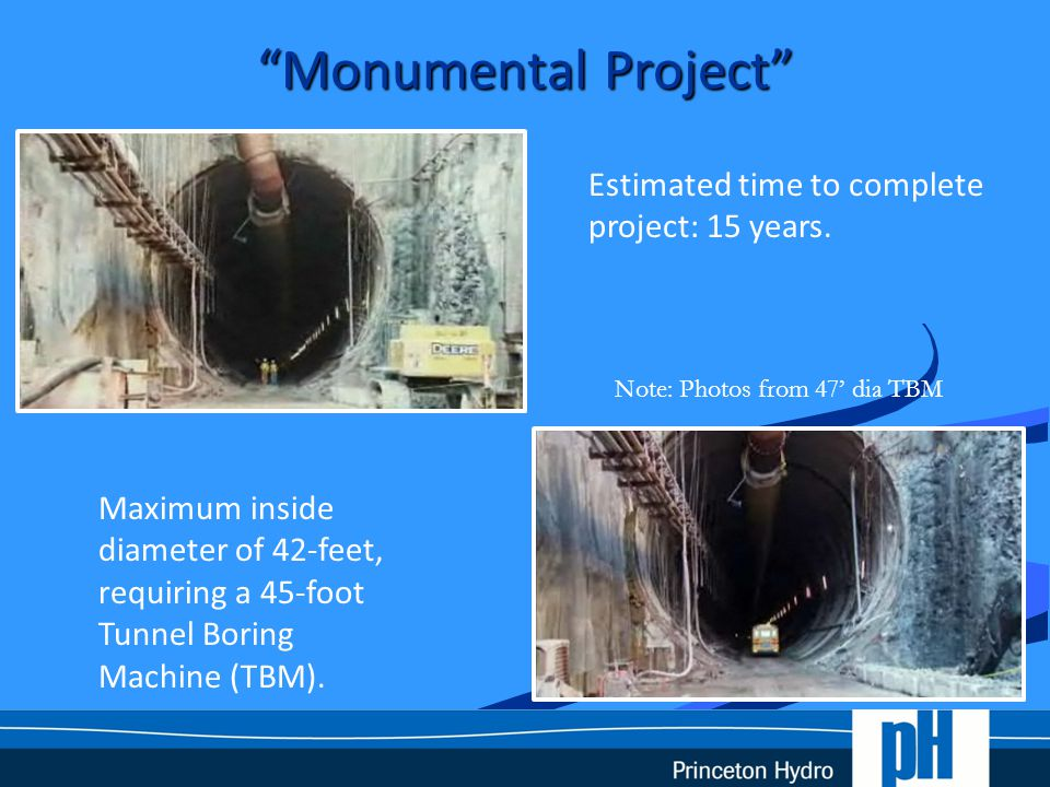 Tunnel Boring Machine 33-feet Note: Passaic to be 45' dia TBM