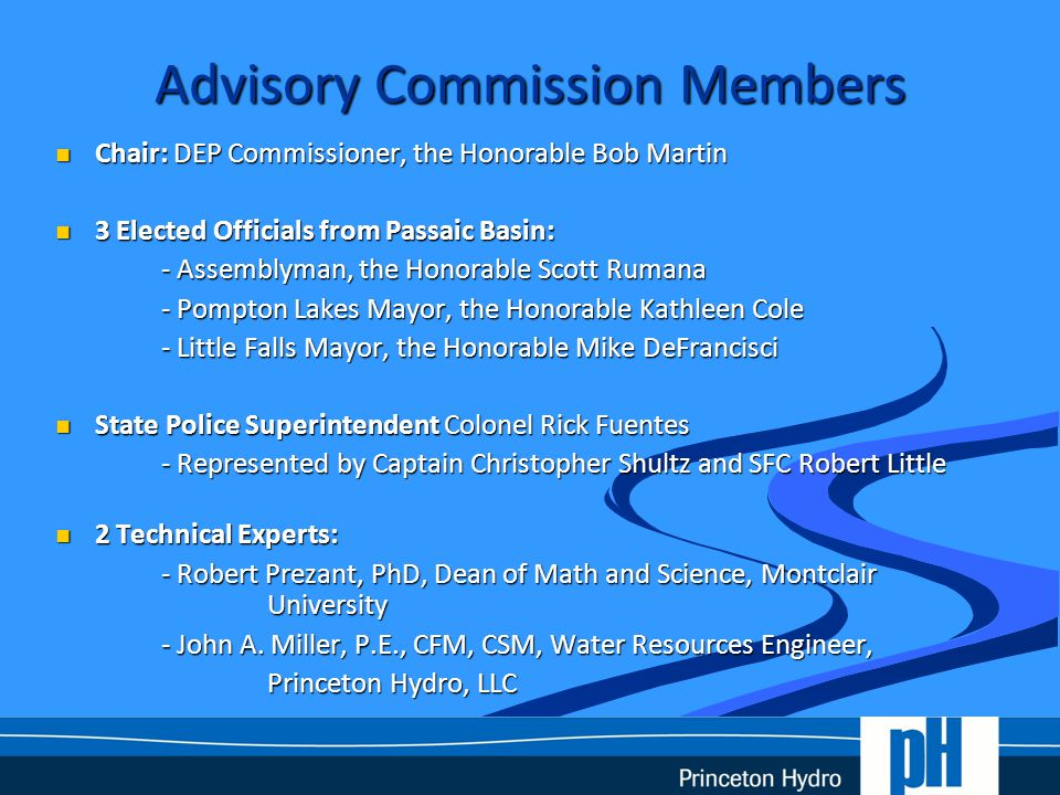Role with the Commission John A.Miller, P.E., CFM, CSM: John A.