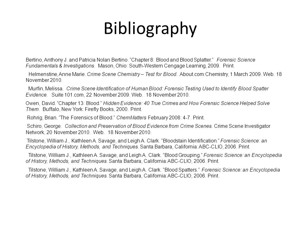 Bibliography Bertino, Anthony J. and Patricia Nolan Bertino.