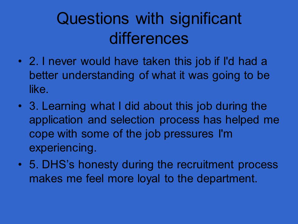 Questions with significant differences 2.