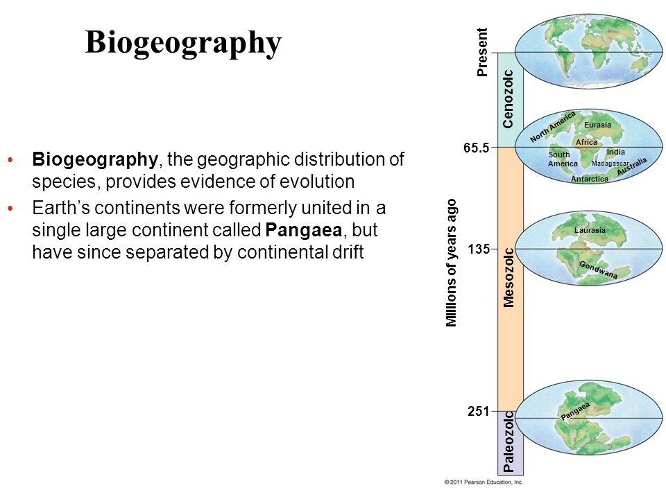 65.5 135 251 Present Cenozoic North America Eurasia Africa South America India Antarctica Madagascar Australia Mesozoic Paleozoic Millions of years ag