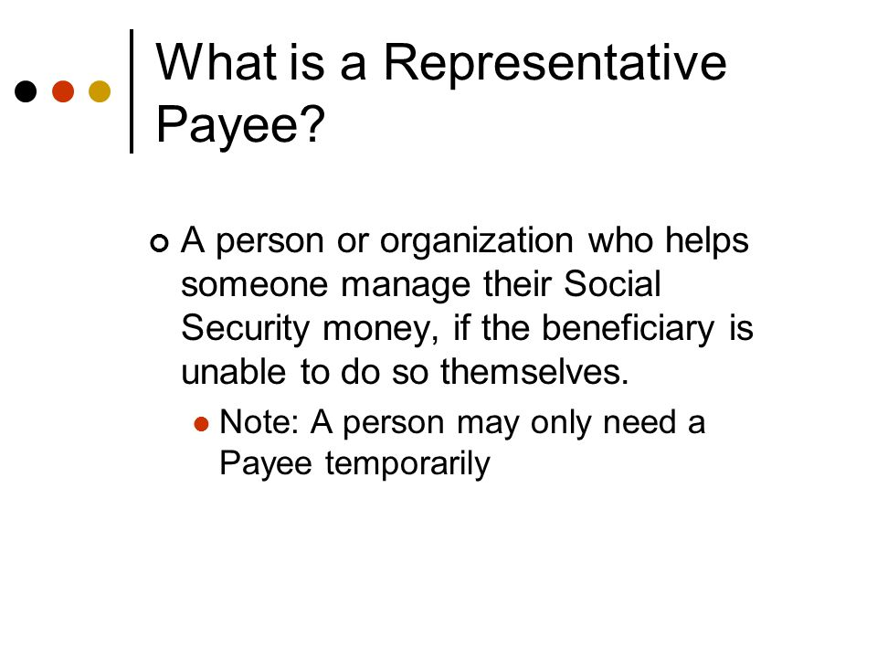 Differences Between Rep Payees and Other Designations What is the difference between: Representative Payee Guardian, and Power of Attorney?