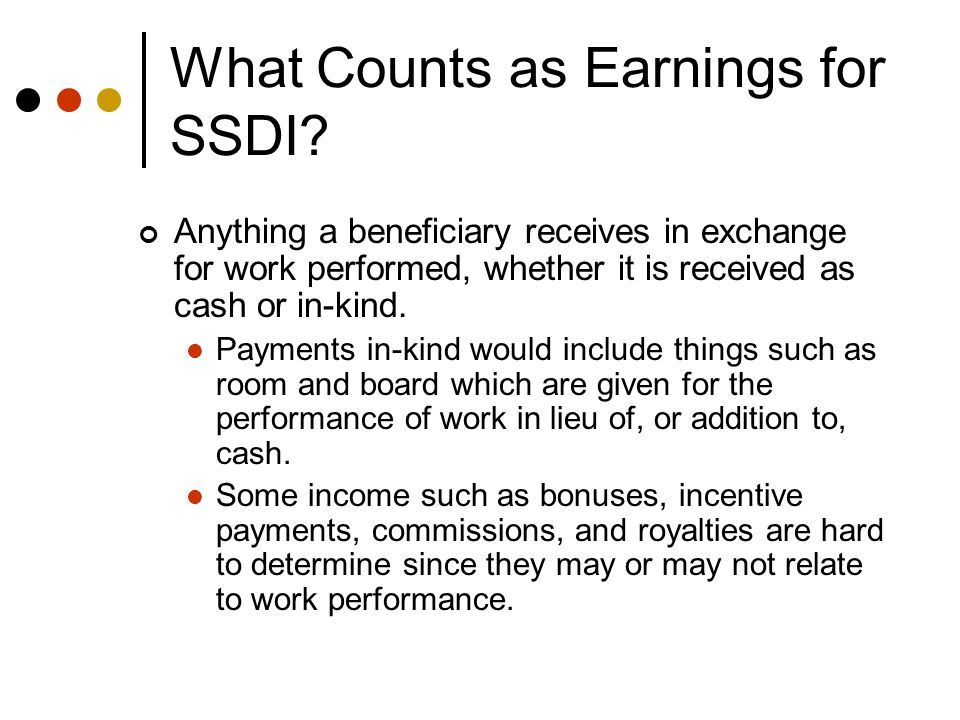 When are Earnings Counted for SSDI.