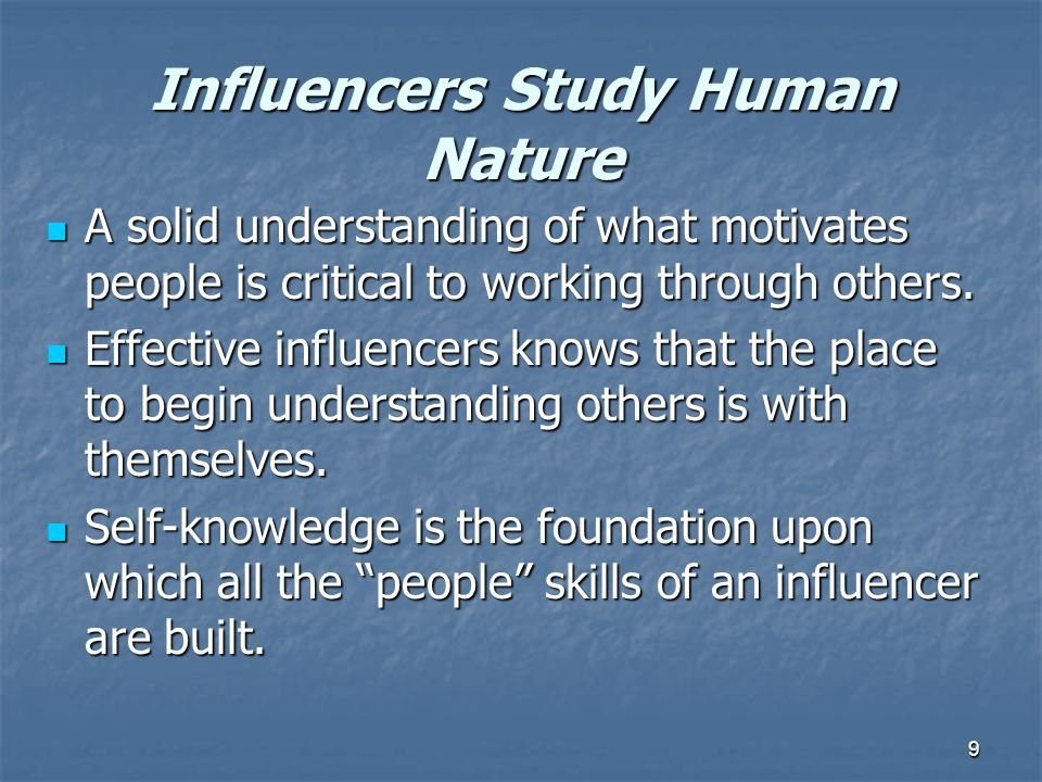 10 A Proven RECIPE for INFLUENCE Similar to 'Interest Based Negotiations', influencing others is based upon principles of psychology and human behavior Similar to 'Interest Based Negotiations', influencing others is based upon principles of psychology and human behavior Seek to create agreement Seek to create agreement Accounting for and acknowledging the interests and feelings of others Accounting for and acknowledging the interests and feelings of others
