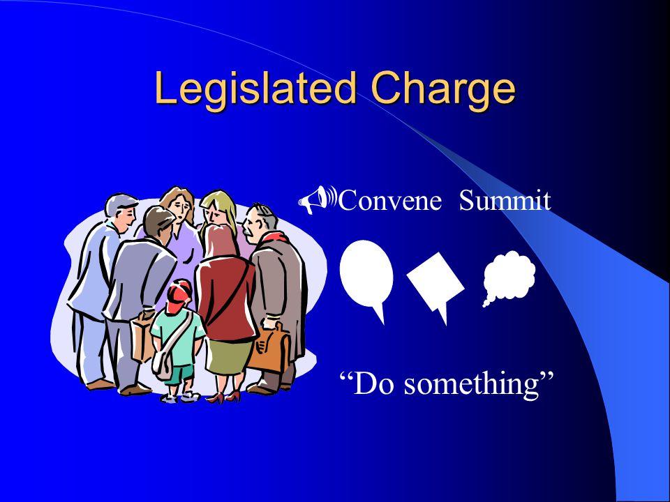 Legislated Charge  Convene Summit Do something